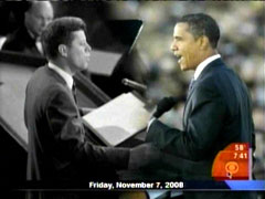 John Kennedy and Barack Obama, CBS