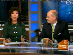 Julie Chen and Harry Smith, CBS