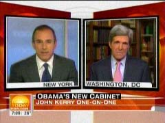 Matt Lauer, NBC Anchor; & John Kerry, Massachusetts Senator | NewsBusters.org