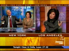 Harry Smith, Maggie Rodriguez, and Julie Chen, CBS