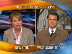 Chip Reid and Katie Couric, CBS