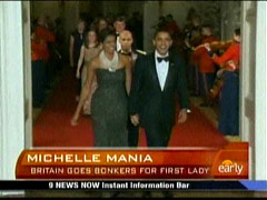 Barack Obama and Michelle Barack, CBS