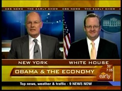 Harry Smith and Robert Gibbs, CBS