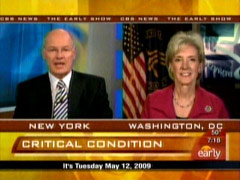 Harry Smith and Kathleen Sebelius, CBS