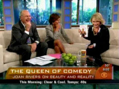 Joan Rivers, Harry Smith, and Maggie Rodriguez, CBS