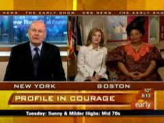 Harry Smith and Caroline Kennedy, CBS