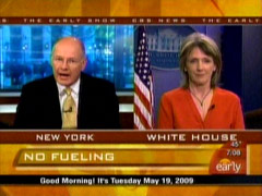 Harry Smith and Carol Browner, CBS