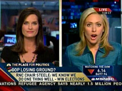 Melissa Francis and Contessa Brewer, MSNBC