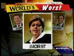 Graphic of Jill Stanek, Pro-Life Blogger, From Keith Olbermann's Worst Person in the World segment | NewsBusters.org