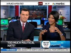 Tamron Hall and David Shuster, MSNBC