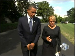 Barack Obama and Katie Couric, CBS