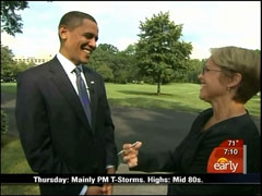 Katie Couric and Barack Obama, CBS