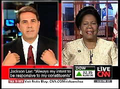 Rick Sanchez, CNN Anchor; & Represenative Sheila Jackson-Lee | NewsBusters.org