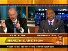 Harry Smith and Michael Steele, CBS