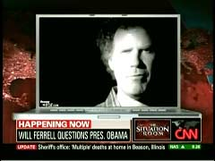 Still from Will Ferrell's MoveOn.org Ad, as shown on CNN's 09/22/2009 Situation Room | NewsBusters.org