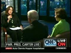 Candy Crowley, CNN Correspondent; Jimmy Carter, Former President; & Rosalynn Carter, Former First Lady | NewsBusters.org