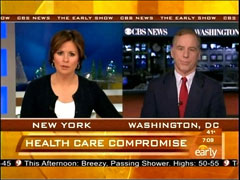 Maggie Rodriguez and Howard Dean, CBS