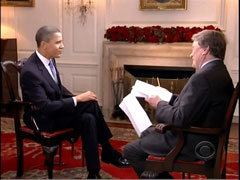 Steve Kroft and Barack Obama, CBS