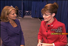 Katie Couric and Sarah Palin, CBS