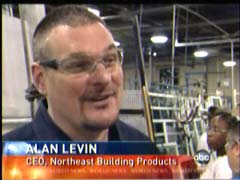 Alan Levin, CEO, Northeast Building Products; from December 3, 2009 ABC's World News | NewsBusters.org