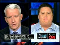 Anderson Cooper, CNN Anchor; & Chastity Bono, Daughter of Sonny Bono & Cher | NewsBusters.org
