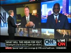 John Roberts, CNN Anchor; Former US Senator Dr. Bill Frist; & Former Surgeon General Dr. David Satcher | NewsBusters.org