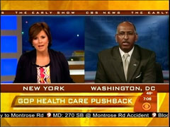 Maggie Rodriguez and Michael Steele, CBS