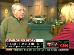 Father James Scahill, Catholic Priest; & Mary Snow, CNN Correspondent | NewsBusters.org
