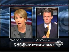 Katie Couric and Chip Reid, CBS