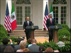 Barack Obama and Felipe Calderon, CBS