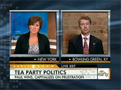Maggie Rodriguez and Rand Paul, CBS