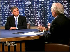Bob Schieffer and Joe Sestak, CBS