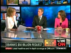 Christine Romans, CNN Correspondent; John Robers, CNN Anchor; & Kiran Chetry, CNN Anchor | NewsBusters.org