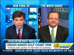 George Stephanopoulos and Robert Gibbs | NewsBusters.org