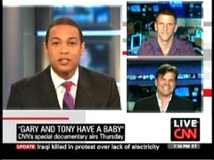 Don Lemon, CNN Anchor; Gary Spino, Homosexual Activist (top); & Tony Brown, Homosexual Activist (bottom) | NewsBusters.org