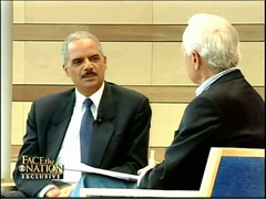 Bob Schieffer and Eric Holder, CBS