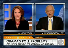 Erica Hill and Bob Schieffer, CBS