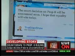 Screen Cap from 4 August 2010 edition of CNN's Rick's List, showing Tweet of TV Host Ellen DeGeneres | NewsBusters.org