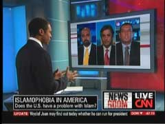 T. J. Holmes, CNN Anchor; Bobby Ghosh, Time Magazine Deputy International Editor; Reza Aslan, The Daily Beast; & Mayor Mohammed Hameeduddi, Teaneck, New Jersey | NewsBusters.org