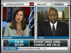 Contessa Brewer and Bishop James Dean Adams, MSNBC