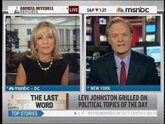 Lawrence O'Donnell and Andrea Mitchell, MSNBC