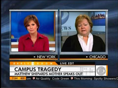 Judy Shepard and Maggie Rodriguez, CBS