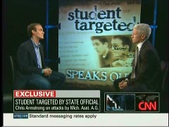 Chris Armstrong, University of Michigan Student Body President; & Anderson Cooper, CNN Anchor | NewsBusters.org