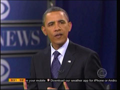 President Barack Obama; screen cap from 12 May 2011 edition of CBS's Early Show | NewsBusters.org