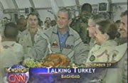 President Bush in Iraq on Thanksgiving Day