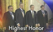 George Tenet, Tommy Franks, President George Bush, Paul