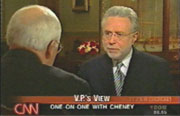 CNN's Wolf Blitzer interviewing VP Dick Cheney