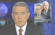 CBS Evening News's Dan Rather