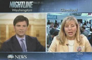 ABC's George Stephanopoulos anchoring Nightline