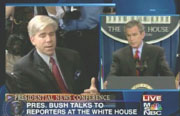 NBC's David Gregory & President George Bush